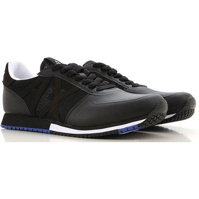 EMPORIO ARMANI Emporio Armani Sneaker für Herren, Tennisschuh, Turnschuh Günstig im Sale, Schwarz, Nylon, 2017, 40 41