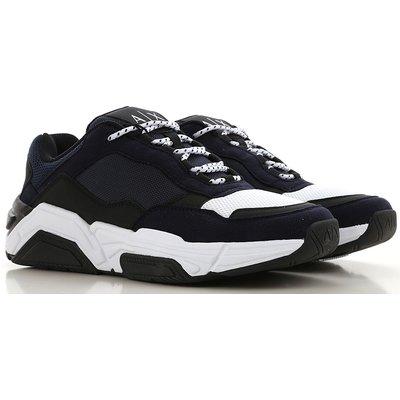 ARMANI EXCHANGE Armani Exchange Sneaker für Herren, Tennisschuh, Turnschuh Günstig im Sale, Marineblau, Nylon Netzgewebe, 2017, 40 42 46