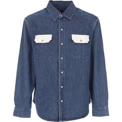 CALVIN KLEIN Calvin Klein Jacke für Herren Günstig im Outlet Sale, Denim Mittelblau, Baumwolle, 2017, L M