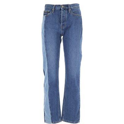 CALVIN KLEIN Calvin Klein Jeans, Bluejeans, Denim Jeans für Damen Günstig im Outlet Sale, Denim Mittelblau, Baumwolle, 2017, 40 41 42 42