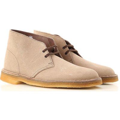 Clarks Desert Boots, Wolfgrau, Wildleder