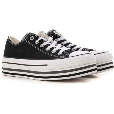 CONVERSE Converse Sneaker für Damen, Tennisschuh, Turnschuh Günstig im Sale, Schwarz, Gewebe, 2017, 39 40.5 43