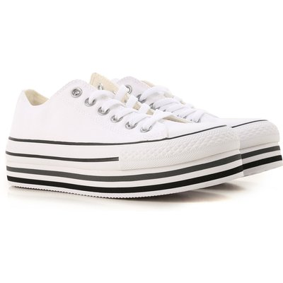 CONVERSE Converse Sneaker für Damen, Tennisschuh, Turnschuh Günstig im Sale, Weiss, Gewebe, 2017, 38 40