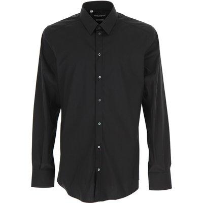Dolce & Gabbana Hemde  Oberhemd, Schwarz, Baumwolle