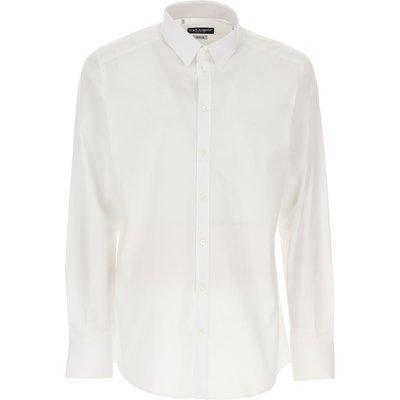 Dolce & Gabbana Hemde  Oberhemd, Weiss, Baumwolle