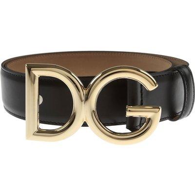 DOLCE & GABBANA Dolce & Gabbana Damengürtel Günstig im Sale, Schwarz, Leder, 2017, 80 85 90 95