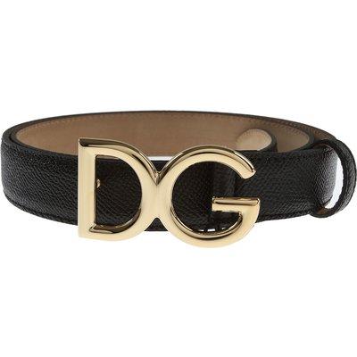 Dolce & Gabbana Gürtel, Schwarz, Leder