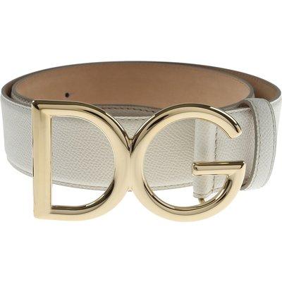 DOLCE & GABBANA Dolce & Gabbana Gürtel für Damen Günstig im Sale, Weiss, Leder, 2017, 80 85 90 95
