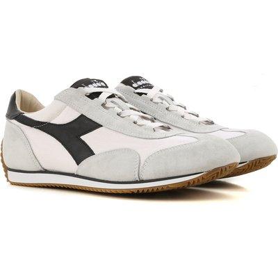 DIADORA Diadora Sneaker für Herren, Tennisschuh, Turnschuh Günstig im Sale, Weiss, Leder, 2017, 40.5 41 42.5 43