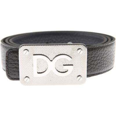 DOLCE & GABBANA Dolce & Gabbana Herrengürtel Günstig im Sale, Reversibile, Schwarz, Leder, 2017, 105 110