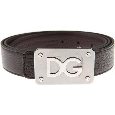 DOLCE & GABBANA Dolce & Gabbana Herrengürtel Günstig im Sale, Reversibile, Ebenholz, Leder, 2017, 100 105 110 95