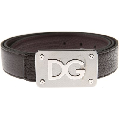 Dolce & Gabbana Herrengürtel Günstig im Sale, Reversibile, Ebenholz, Leder, 2017, 100 105 110 95
