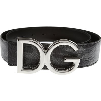 DOLCE & GABBANA Dolce & Gabbana Gürtel Günstig im Sale, Tarnungsgrau, Leder, 2017, 100 105 85 95