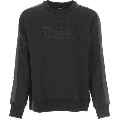 DIESEL Diesel Sweatshirt für Herren, Kapuzenpulli, Hoodie, Sweats Günstig im Outlet Sale, Schwarz, Baumwolle, 2017, L M S XL