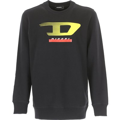 DIESEL Diesel Sweatshirt für Herren, Kapuzenpulli, Hoodie, Sweats Günstig im Sale, Schwarz, Baumwolle, 2017, L M S XS