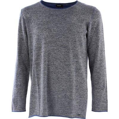 DIESEL Diesel Pullover für Herren, Pulli Günstig im Outlet Sale, Kfox, Blaugrau melange, Baumwolle, 2017, L S XS