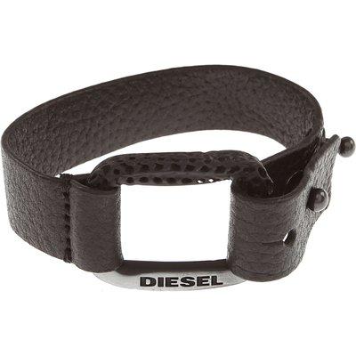 Diesel Armband Günstig im Outlet Sale, Schwarz, Leder
