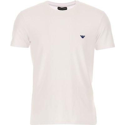 EMPORIO ARMANI Emporio Armani T-Shirts für Herren, T'Shirts Günstig im Sale, Weiss, Baumwolle, 2017, L M