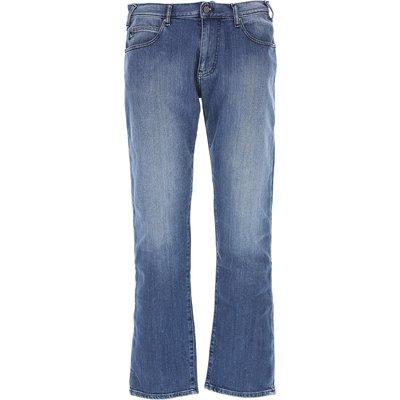 EMPORIO ARMANI Emporio Armani Jeans, Bluejeans, Denim Jeans für Herren Günstig im Sale, Denim Blau, Baumwolle, 2017, 46 47 48 49 50 54