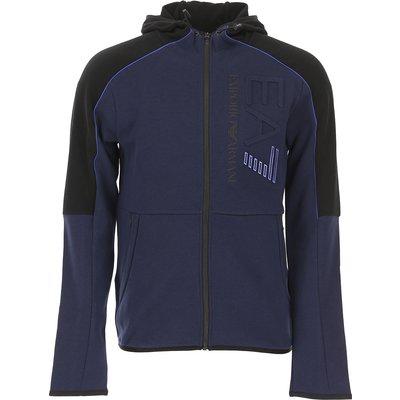 EMPORIO ARMANI Emporio Armani Sweatshirt für Herren, Kapuzenpulli, Hoodie, Sweats Günstig im Sale, Marineblau, Baumwolle, 2017, L M S XL