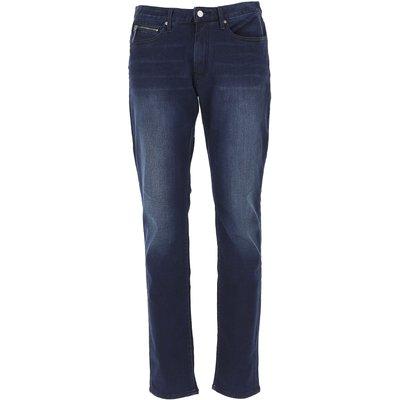 EMPORIO ARMANI Emporio Armani Jeans, Bluejeans, Denim Jeans für Herren Günstig im Outlet Sale, Denim Blau, Baumwolle, 2017, 52 54