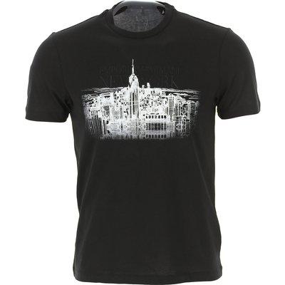 Emporio Armani T-Shirts  T'Shirts, Schwarz, Baumwolle