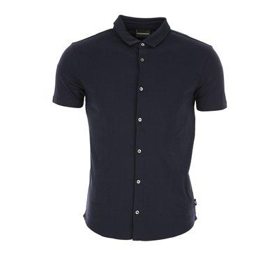 Emporio Armani Hemde  Oberhemd, dunkel Mitternachtblauu, Polyester