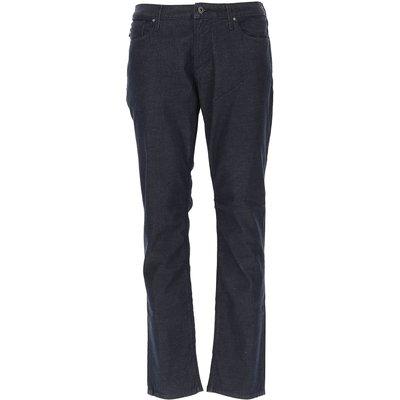 EMPORIO ARMANI Emporio Armani Jeans, Bluejeans, Denim Jeans für Herren Günstig im Outlet Sale, Denim Blau, Baumwolle, 2017, 52 56