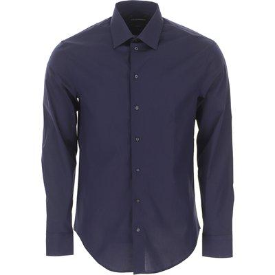Emporio Armani Hemde  Oberhemd, Marine blau, Baumwolle