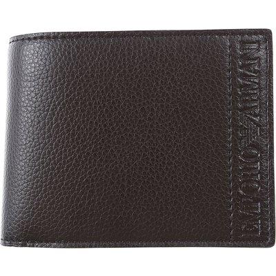 EMPORIO ARMANI Emporio Armani Brieftasche für Herren, Portemonnaie, Geldbörsen, Geldbeutel Günstig im Sale, Schwarz, Leder, 2017