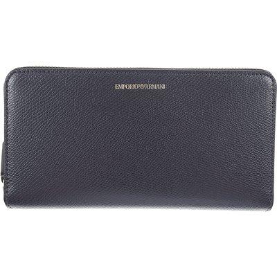 EMPORIO ARMANI Emporio Armani Brieftasche für Damen, Portemonnaie, Geldbörsen, Geldbeutel Günstig im Sale, Nachtblau, Leder, 2017