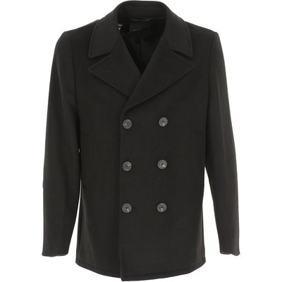 Guess Mantel  Trenchcoat, Schwarz, Wolle   GUESS SALE
