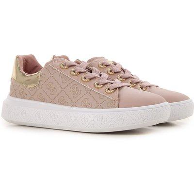 GUESS Guess Sneaker für Damen, Tennisschuh, Turnschuh Günstig im Sale, Pink, Leder, 2017, 35 36 37 38 39