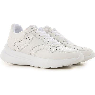 GUESS Guess Sneaker für Damen, Tennisschuh, Turnschuh Günstig im Sale, Weiss, Leder, 2017, 36 37 38 39 40