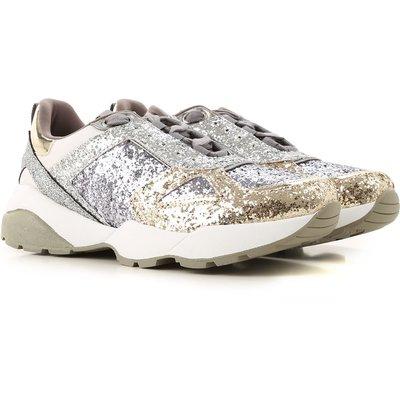 GUESS Guess Sneaker für Damen, Tennisschuh, Turnschuh Günstig im Sale, Silber, Gewebe, 2017, 35 36 37 38 39 40