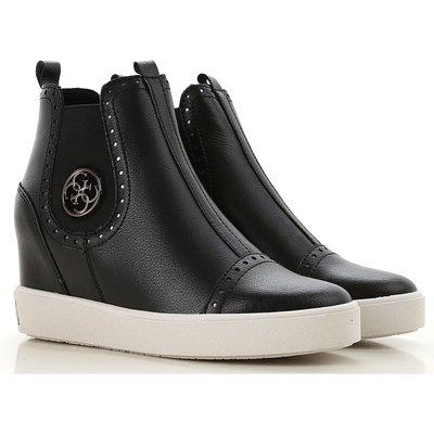 GUESS Guess Stiefel für Damen, Stiefeletten, Bootie, Boots Günstig im Outlet Sale, Schwarz, Leder, 2017, 35 38 40