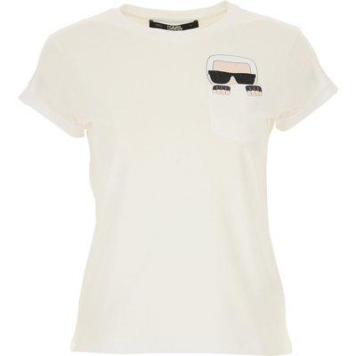 Karl Lagerfeld T-Shirts  T'Shirts Günstig im Outlet Sale, Weiss, Baumwolle