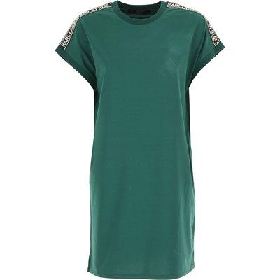 Karl Lagerfeld Kleid, Evergreen, Baumwolle