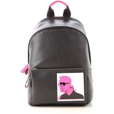 Karl Lagerfeld Rucksack, Schwarz, Leder
