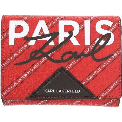 KARL LAGERFELD Karl Lagerfeld Brieftasche für Damen, Portemonnaie, Geldbörsen, Geldbeutel Günstig im Sale, Rubinrot, Polyvinyl Chloride, 2017