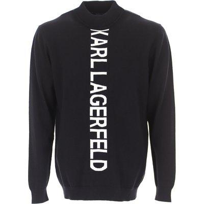 Karl Lagerfeld Pullover  Pulli, Schwarz, Wolle