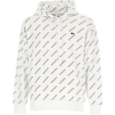 LACOSTE Lacoste Sweatshirt für Herren, Kapuzenpulli, Hoodie, Sweats Günstig im Sale, Weiss, Baumwolle, 2017, 3 4 5