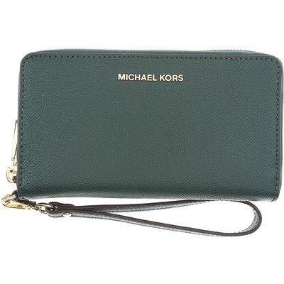 MICHAEL KORS Michael Kors Brieftasche für Damen, Portemonnaie, Geldbörsen, Geldbeutel Günstig im Sale, Rennfahrt Grün, Leder, 2017