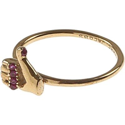 Marc Jacobs Ring, Goldfarben, Messing