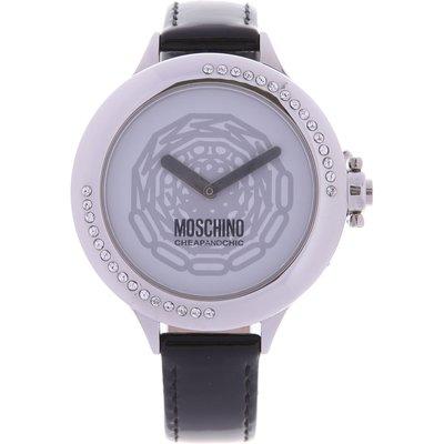 MOSCHINO Moschino Uhr für Damen, Chronometer, Zeitmesser Günstig im Outlet Sale, Schwarz, Lackleder, 2017