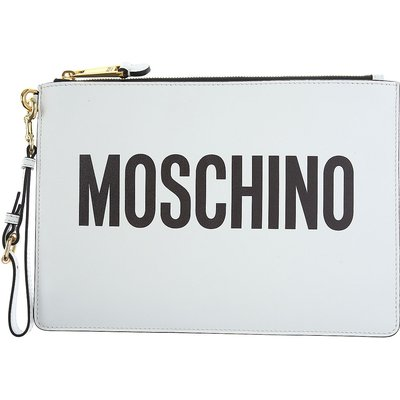 MOSCHINO Moschino Tasche für Damen Günstig im Sale, Weiss, Polyester, 2017