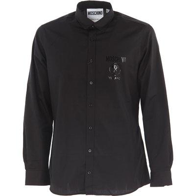 MOSCHINO Moschino Hemde für Herren, Oberhemd Günstig im Outlet Sale, Schwarz, Baumwolle, 2017, 40 41