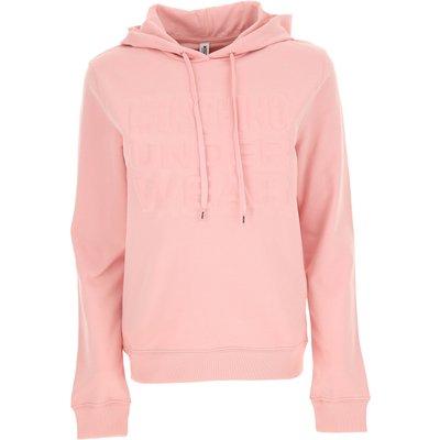 MOSCHINO Moschino Sweatshirt für Damen, Kapuzenpulli, Hoodie, Sweats Günstig im Sale, Pink, Baumwolle, 2017, 40 44 M