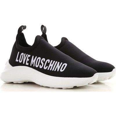 Moschino Slip On Schuh, Schwarz, Neopren