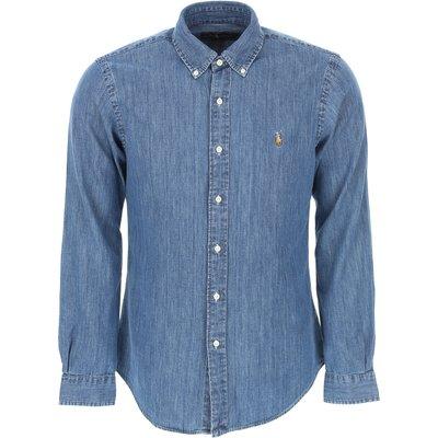 Ralph Lauren Herrenbekleidung, Denim Blau, Baumwolle
